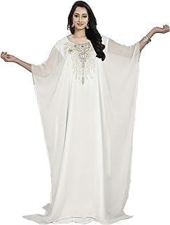 فستان كيمونو صيفي طويل للنساء بتصميم فراشة ومقاس واحد من كيه او سي