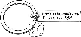 CAROMAY Boyfriend Key Chain Rings Valentines Day Men Birthday Keychain Husband Keyring Love Gift Drive Safe Handsome