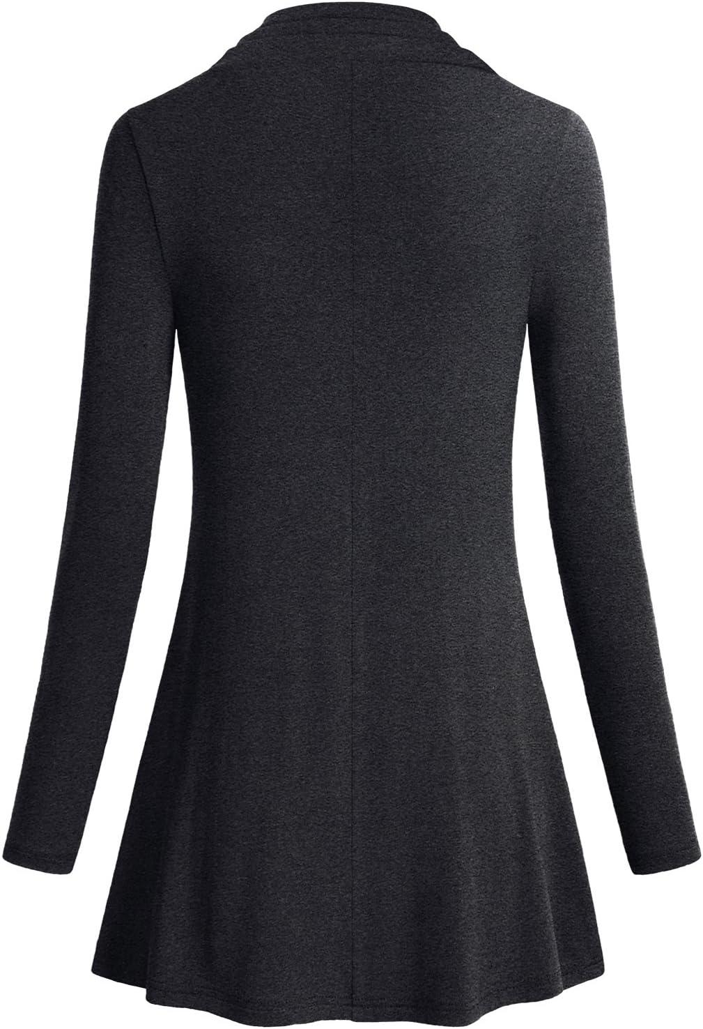 Miusey Plus Size Womens Long Sleeve Christmas Shirt For Leggings Gift Tunic