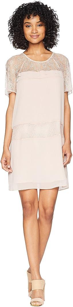 Raglan Sleeve Tiered Dress