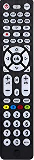 GE Universal Remote Control, Backlit, For Samsung, Vizio, LG, Sony, Sharp, Roku, Apple TV, RCA, Panasonic, Smart TVs, Streaming Players, Blu-ray, DVD, Simple Setup, 8-Device, Big Buttons, Black, 37123