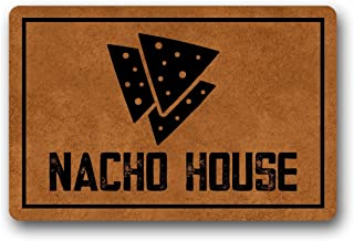 Nacho House Doormat Entrance Floor Mat Funny Doormat Indoor Outdoor Nonwoven Fabric Top 23.6 * 15.7 inch