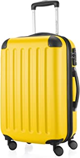 """Hauptstadtkoffer Spree - Carry on Luggage Suitcase Hardside Spinner Trolley Expandable 20"""" TSA, Yellow, 55 Centimeters"""
