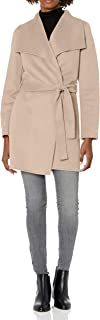 T Tahari Women's Classic Double Face Wool Blend Wrap Coat