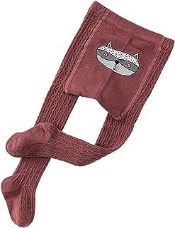Elonglin Girls Cotton Tights Knit Plain Cute Pantyhose Toddler Baby Kids Leggings Stockings Girls