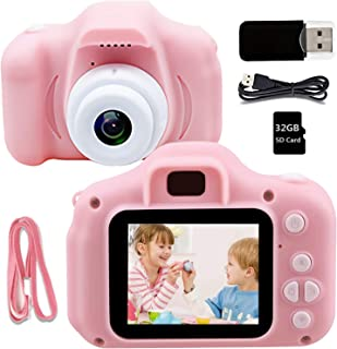 Kids Camera Children Digital Camera - Kids Camera with 32GB SD Card, HD 1080P IPS 2.0 Inch Kids Digital Camera for Girls B...