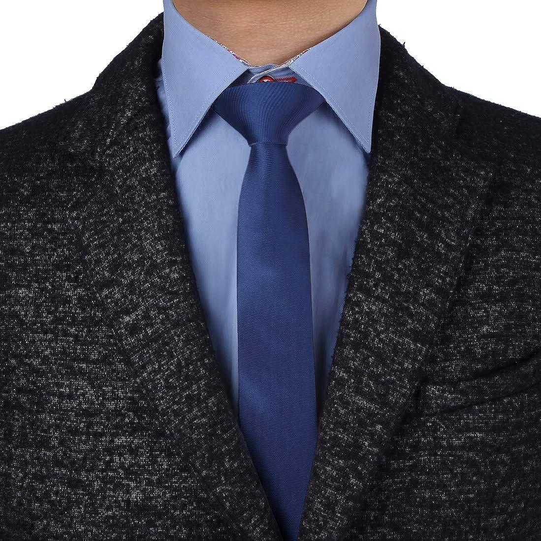 Epoint Men's Fashion Casual Plain Slim Tie Silk Men's Skinny Tie 2