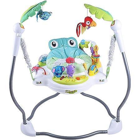 アクティビティジャンパー 6ヶ月頃から対象ベビーバウンサー レインフォレスト アクティビティ ジャンプ 調整可能 多機能 おもちゃ 赤ちゃん,白