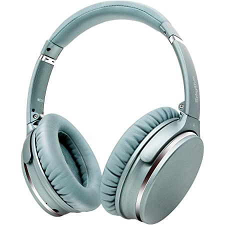 Active Noise Cancelling Stereo Headphones Bluetooth 5.0,Srhythm NC25 ANC Headset Over-Ear with Hi-Fi,Mic,50H Playtime,Voice Assistant,Low Latency Game Mode