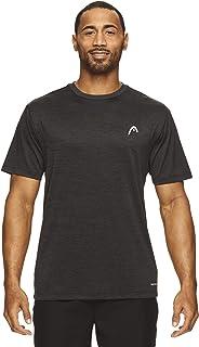 HEAD Men's Ultra Hypertek Crewneck Gym Training & Workout T-Shirt - Short Sleeve Activewear Top
