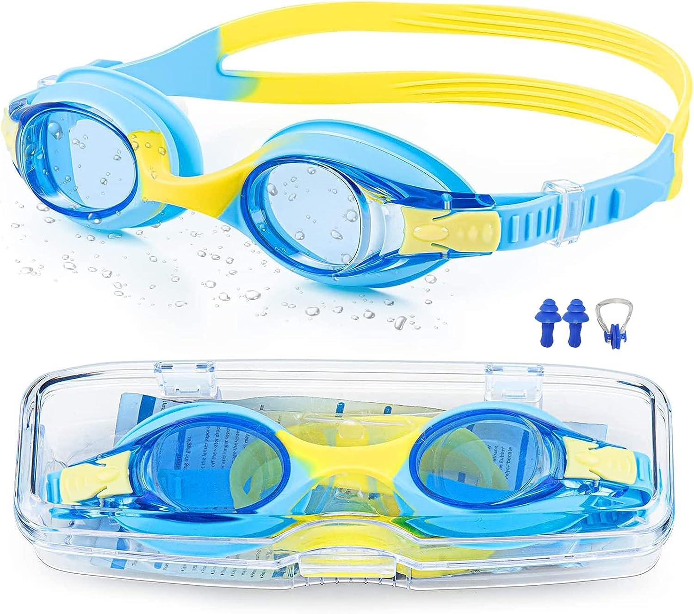 Gafas Buceo Niño, Gafas Natacion, Ultravioleta Protegido Anti Niebla Anti-Fugas Robustas Universal Gafas de Buceo Para Niños, Lindo Diseño Gafas Piscina para Chicos y Chicas