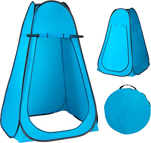 Giantex Pop-up Privacy Tent, Outdoor Shower Tent Changing Room w/Carry Bag, Portable Camp Toilet, Rain Shelter for Camping & Beach, Extra Large