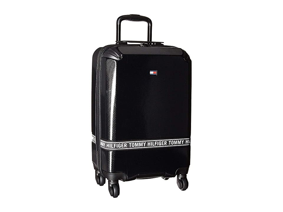 Tommy Hilfiger Courtside 20 Upright Suitcase (Black) Pullman Luggage