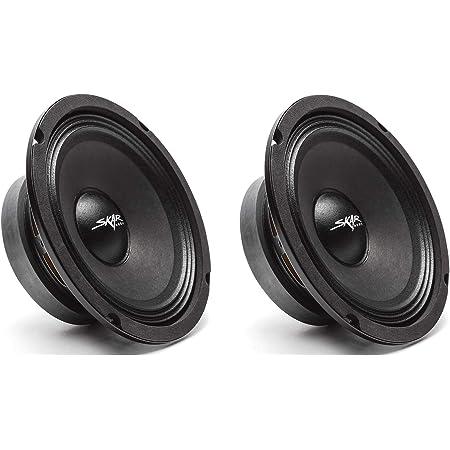 Skar Audio (2) FSX65-4 (2) FSX65-4 300-Watt 6.5-Inch 4 Ohm MID-Range Loudspeakers - 2 Speakers Black