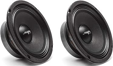 (2) Skar Audio FSX65-4 300-Watt 6.5-Inch 4 Ohm MID-Range Loudspeakers – 2 Speakers