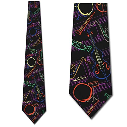 6d11d46cb408 Jazz Instruments Tie Mens Music Neckties by Three Rooker