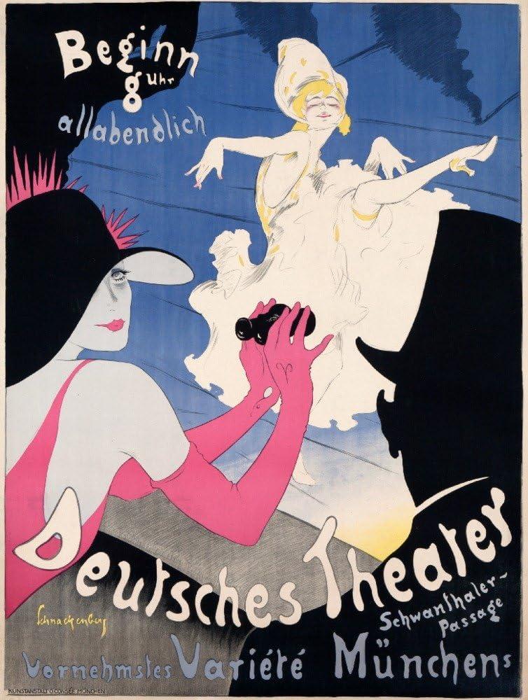 Deutsches Theater (artist: Schnackenberg, Walter) Germany, Vintage Advertisement (12x18 Art Print, Wall Decor Travel Poster)