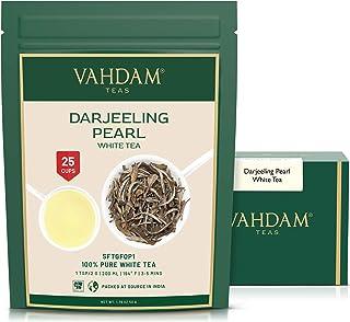 VAHDAM, Darjeeling Pearl White Tea | 100% Pure Unblended White Tea Loose Leaf | World's Healthiest Tea | RICH IN ANTIOXIDA...