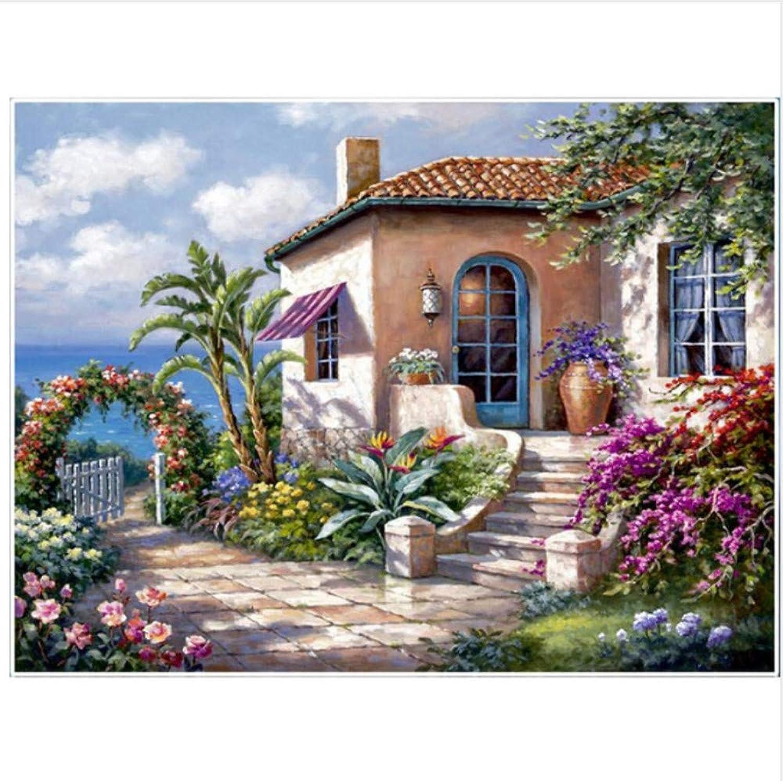 Malen Nach Zahlen DIY Seaside House Garden Romance Für Erwachsene Wohnkultur-Framed B07Q4LKW5F | Deutschland Online Shop