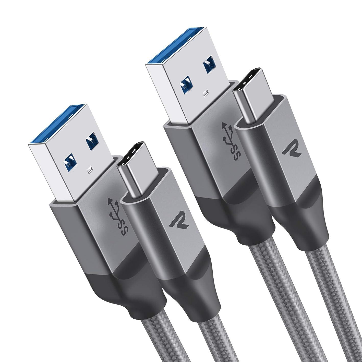 エイリアン評価する嫌いRampow USB Type C ケーブル【2m/二本組/保証付き】USB3.1 タイプc ケーブル QuickCharge3.0対応 Sony Xperia XZ/XZ2, Samsung Galaxy S9/S8/A3/A7/A9/C5/7pro/C9, Macbook Pro, Nexus 5X/6P, GoPro Hero 5/6 アンドロイド多機種対応 3A急速充電 5Gbps高速データ転送