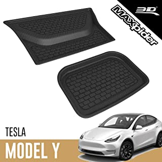 3D MAXpider Rubber Cargo Liner for 2020-2021 Tesla Model Y Lower Cargo Bay – Custom Fit All-Weather Kagu Series (NOT FIT 7...