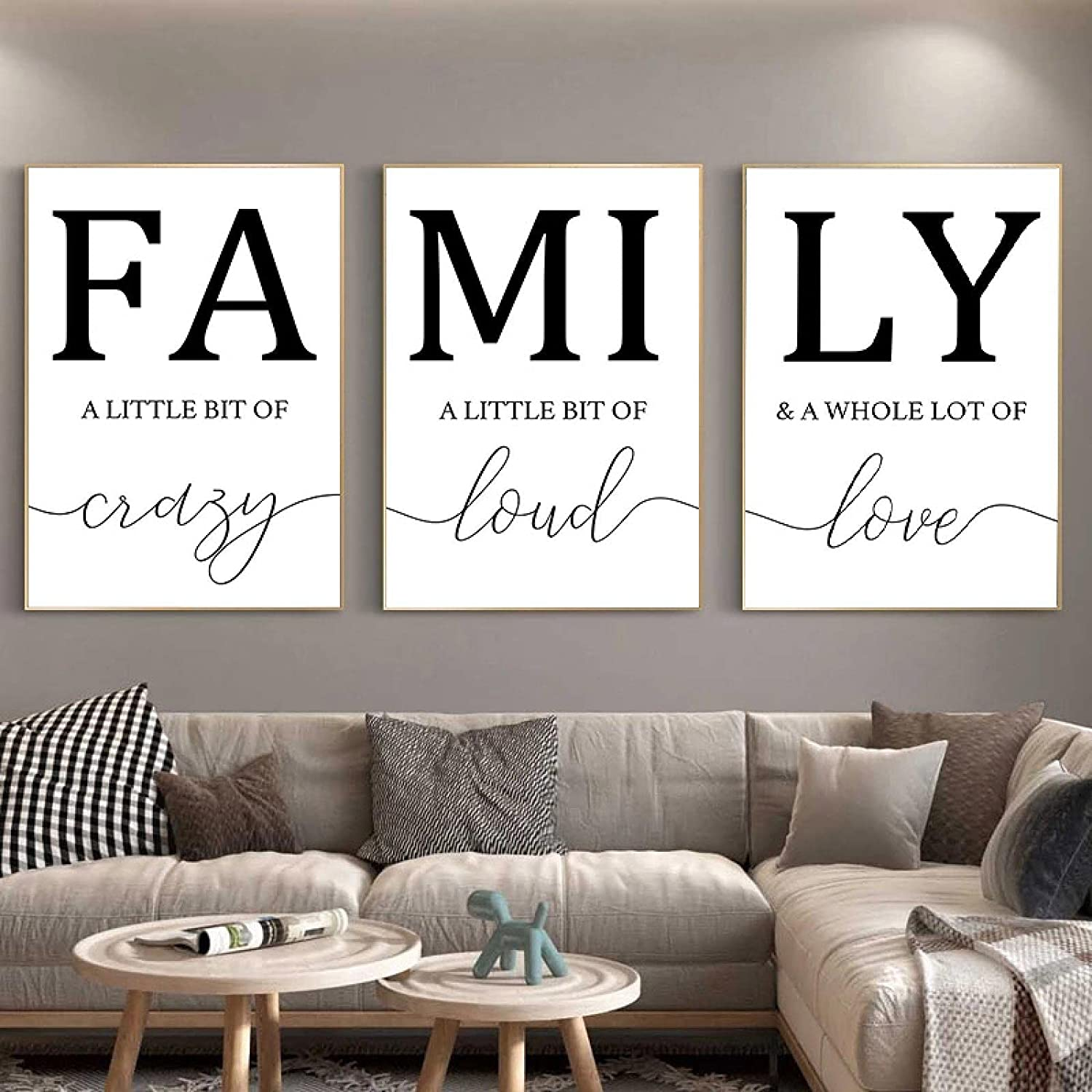 Sunsightly NEW before Cheap sale selling Print on Canvas Nordic Letter Minimalist Love Family