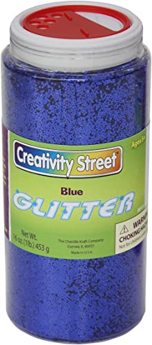 Glitter, in Shaker Jar, 1 lb., Blau, Sold as 1 Each