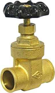 Smith-Cooper International 8502L Series Brass Gate Valve, Potable Water Service, Non-Rising Stem, Inline, 3