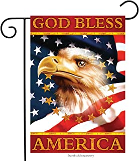 Briarwood Lane God Bless America Eagle Garden Flag Patriotic 4th of July 12.5 x 18