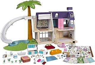 Mymy City Palmhouse - Casita de muñecas amueblada para niños y niñas de 3 a 8 años (Famosa 700015353)