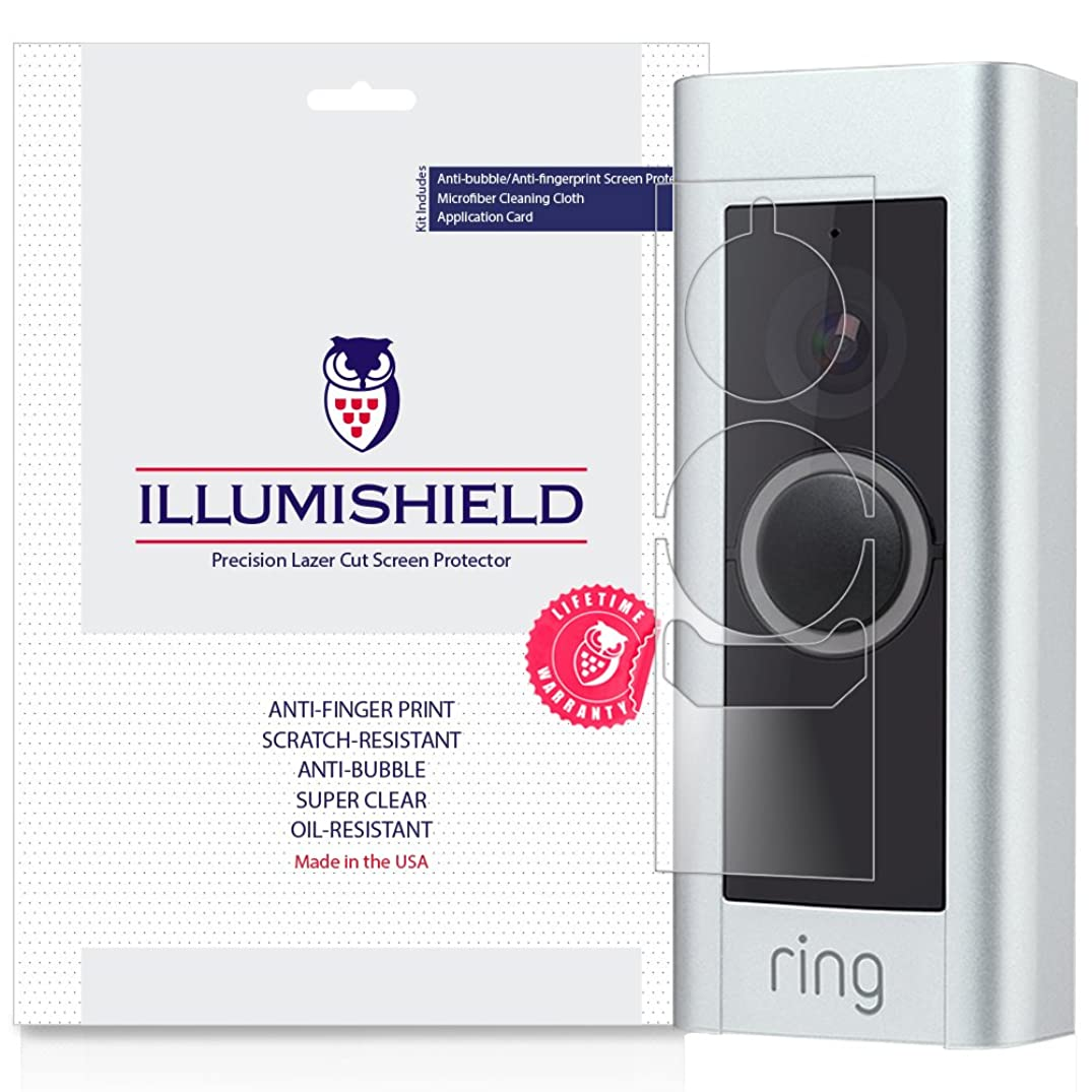 Ring Video Doorbell Pro Screen Protector [3-Pack], iLLumiShield Screen Protector for Ring Video Doorbell Pro Clear HD Shield with Anti-Bubble & Anti-Fingerprint Film