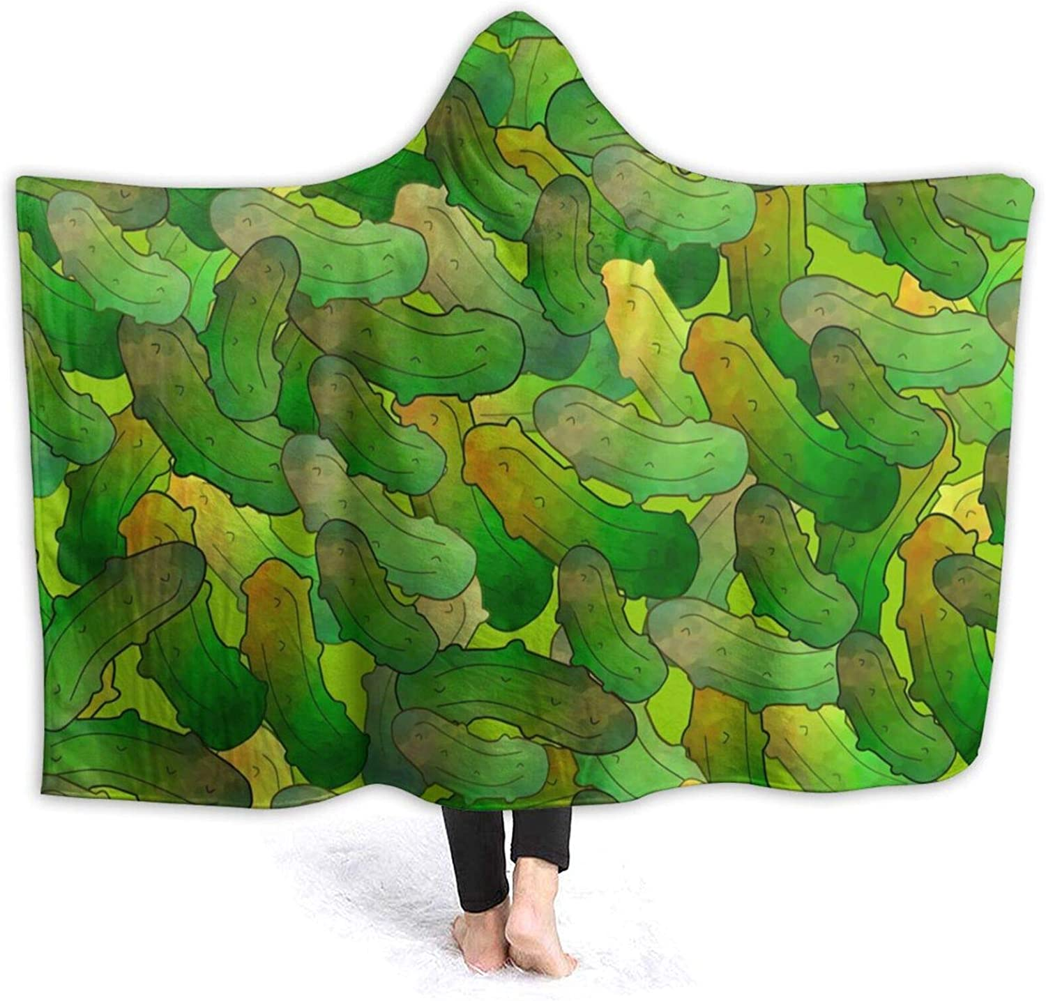Large discharge sale ARTIEMASTER Dill Pickles Hooded Blanket Soft Lightweight and Max 72% OFF Fla