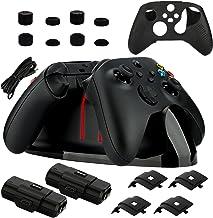 Kit de estação de carregamento para Xbox Series X|S/Xbox One, base de carregamento duplo com 2 pacotes de bateria recarreg...