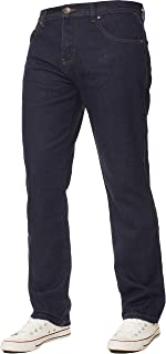 Kruze Mens Straight Leg Basic Jeans Regular Fit Work Denim Pants All Big Tall Sizes