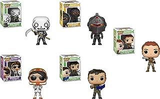 Funko Pop! Games: Fortnite Set of 5: Tower Recon Specialist, High Rise Assault Trooper, Black Knight, Moonwalker Skull Trooper