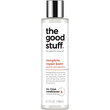 The Good Stuff Complete Repair Balm Leave-In No-Rinse Vegan Conditioner, For Damaged Hair, 6.7 oz