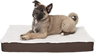 Furhaven Pet Dog Bed | Orthopedic Mat Convertible Sherpa Panel Water-Resistant Outdoor Traditional Foam Mattress Pet Bed w/Removable Cover for Dogs & Cats - Available in Multiple Colors & Sizes