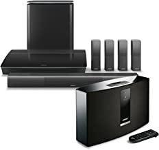 Bose Lifestyle 650 Home Entertainment System, Black, with SoundTouch 20 Series III Wireless Bluetooth Speaker, Black