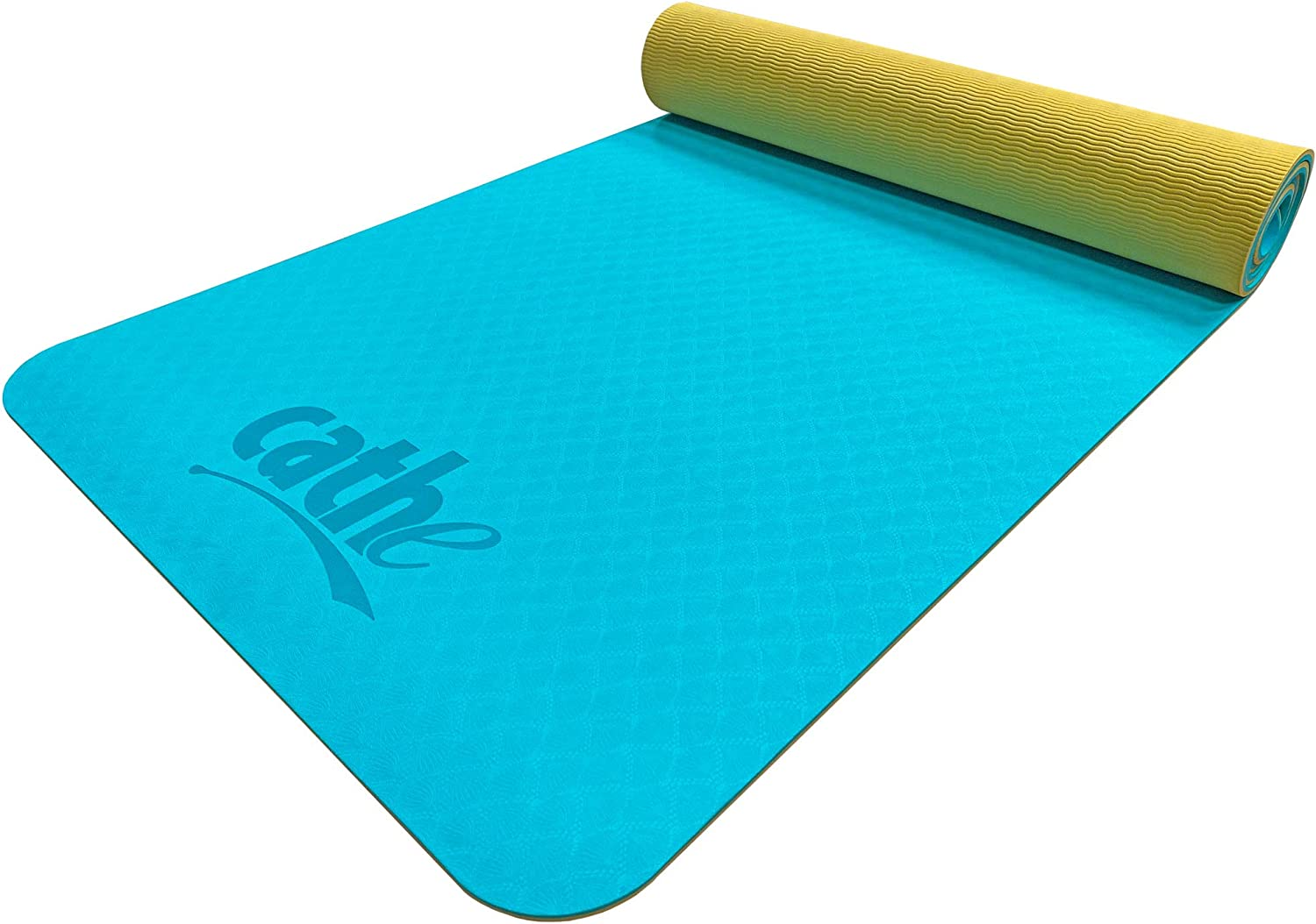 Cathe Aqua Eco-Friendly Extra Thick TPE In a popularity - Boston Mall Mat Exercise Yoga Perf