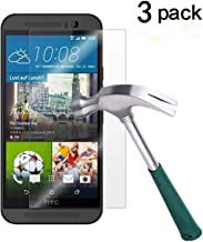 HTC One M9 Screen Protector, TANTEK [Bubble-Free][HD-Clear][Anti-Scratch][Anti-Glare][Anti-Fingerprint] Tempered Glass Screen Protector for HTC One M9 / HTC M9 [2015],-[3Pack]