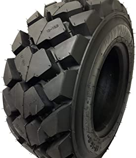 (1 TIRE) 12-16.5 Skid Steer Loader Tire 14 PLY, AIOT-27 HEAVY DUTY 105 LBS, 12X16.5