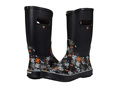 Bogs Kids Rain Boots Moons (Toddler/Little Kid/Big Kid) (Black Multi) Boy