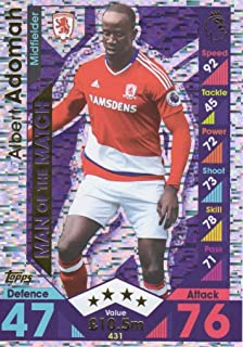 Topps Match Attax 2016/2017 Albert Adomah Man Of The Match 16/17 Trading Card