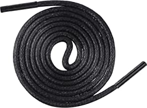 3 Pairs Shoelaces Round Waxed Shoe Laces 80 cm Dress Shoelaces for Men and Women's Casual and Dress Shoes (Black)