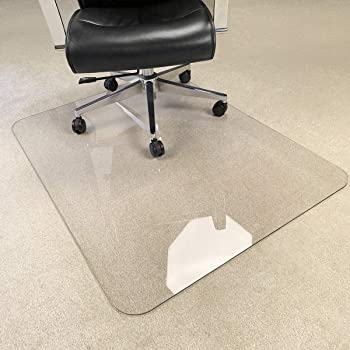 "[Upgraded Version] Crystal Clear 1/5"" Thick 47"" x 35"" Heavy Duty Hard Chair Mat, Can be Used on Carpet or Hard Floor"