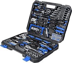 مجموعة أدوات منزلية مكونة من 198 قطعة، مجموعة أدوات يدوية للإصلاح المنزلي / التلقائي متعددة الأغراض من بروستورمر مع المطرق...