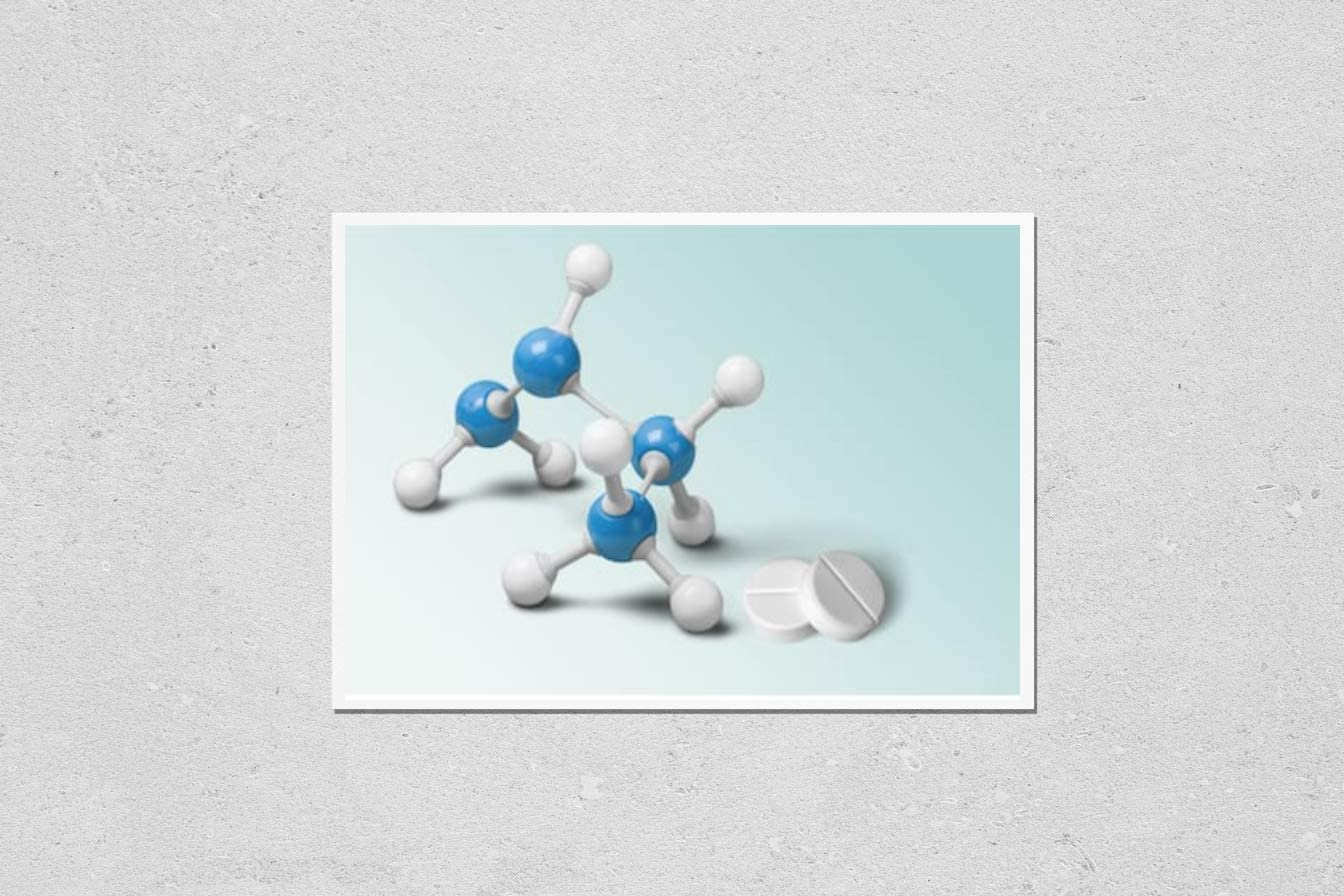 KwikMedia Price reduction Japan's largest assortment Poster Reproduction of Structure ac Molecular Model