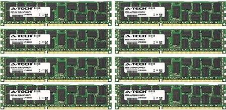 A-Tech 64GB KIT (8 x 8GB) for IBM-Lenovo System Series x3400 M2 (7836-xxx) x3400 M2 (7837-xxx) x3400 M3 x3500 M2 x3500 M2 (7839-xxx) DIMM DDR3 ECC Registered PC3-10600 1333MHz Single Rank RAM Memory