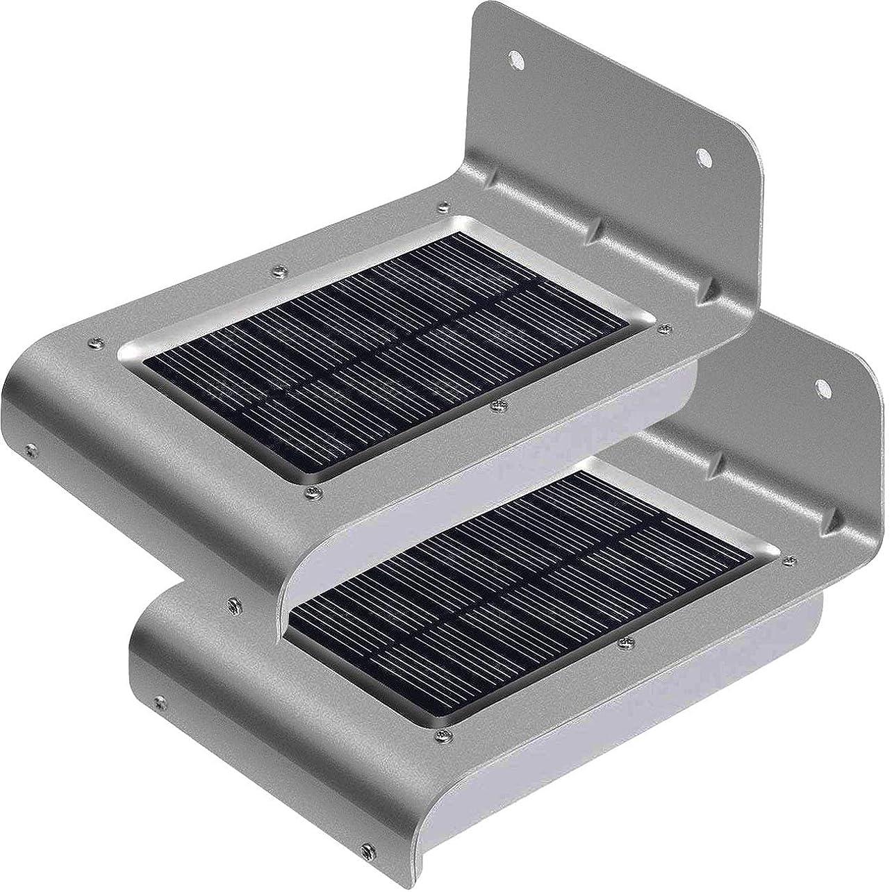 限り試み器用2本 センサーライト 屋外 ソーラーライト LED防犯 人感 防水 屋外照明 180°照明範囲 太陽光発電 庭 玄関 駐車場 通路 ガーデンライト 大活躍