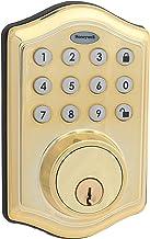 Honeywell Safes & Door Locks - Fechadura de entrada eletrônica 8712009 com teclado, latão polido